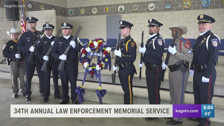 Fallen Texas officers honored in College Station at 34th Annual Law Enforcement Memorial Service