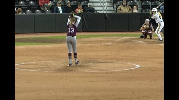 Aggie softball drops series opener at Missouri 4-3