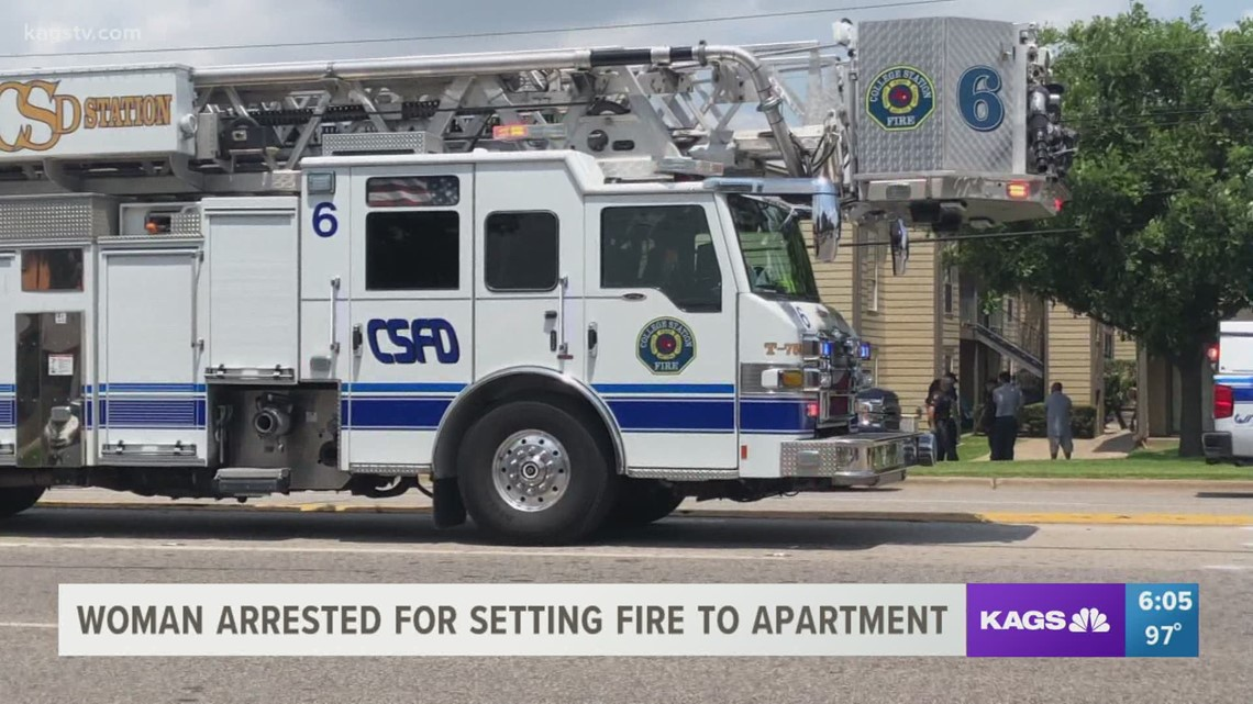 College Station woman accused of setting fire to apartment