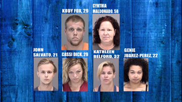 Six people arrested during search of Brazos Co. home