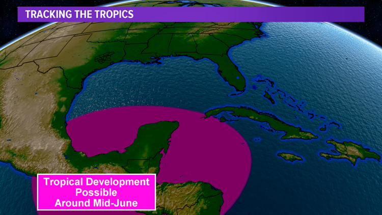 Tropical development possible in the Caribbean and Gulf of Mexico over the next week or two