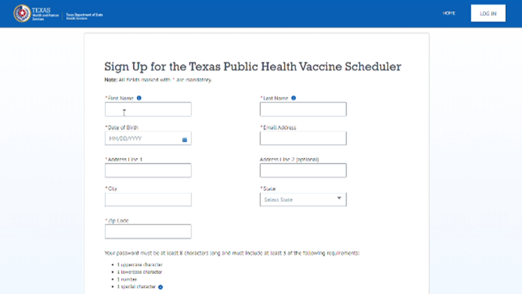 Texas launches scheduler to help with vaccine registration appointments across the state