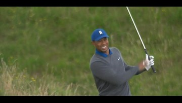 Woods and McIlroy struggle, J.B. leads the British Open after the first round