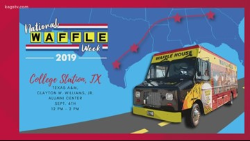 Whoop, Whoop! Waffle House celebrates National Waffle Week with visit to Aggieland