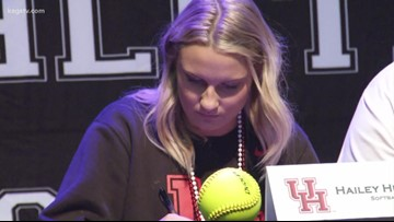 More than a dozen College Station athletes signed a National Letter of Intent on Wednesday
