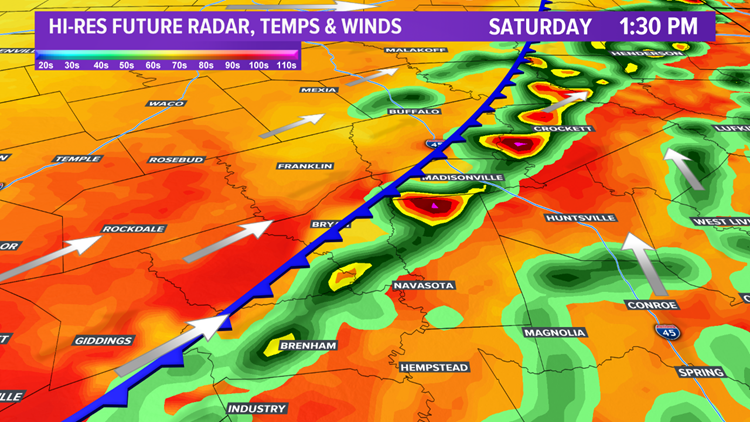 A cold front on the way this weekend and a chance for strong storms early next week