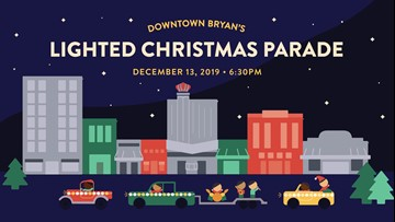 Follow the Lights! Downtown Bryan's Lighted Christmas Parade happening this Friday