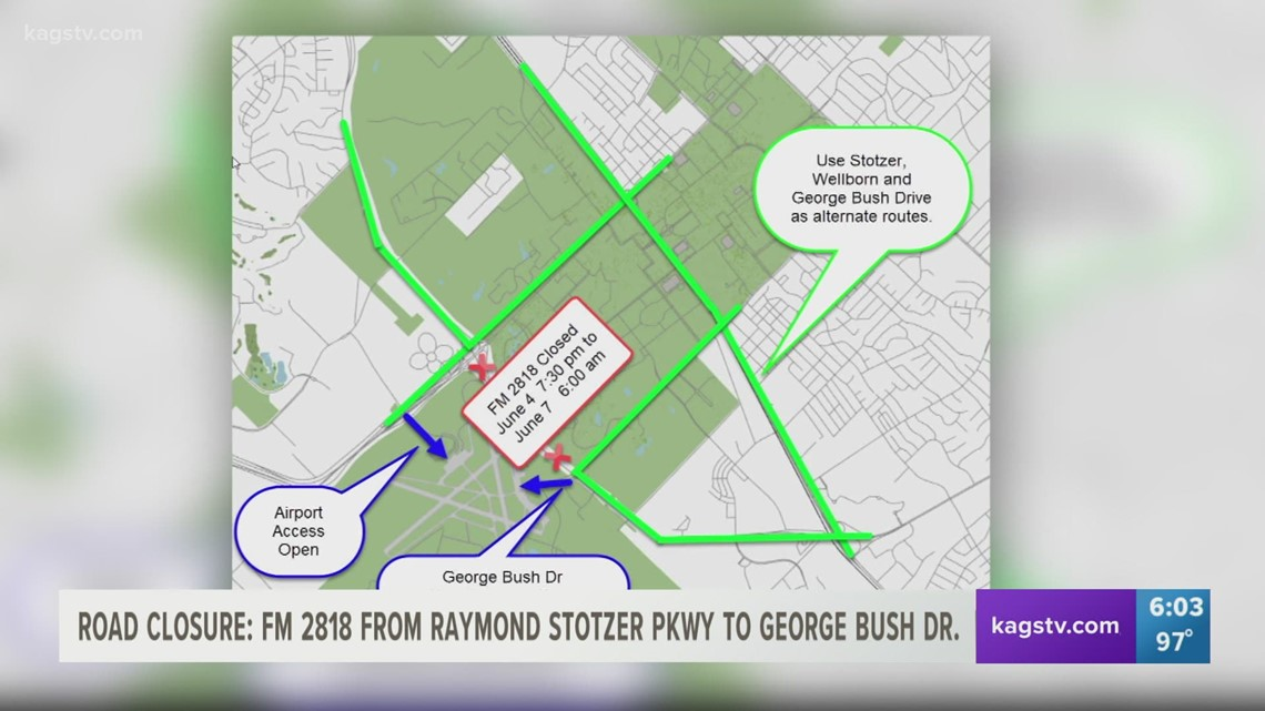 Section of Harvey Mitchell PKWY to close Friday