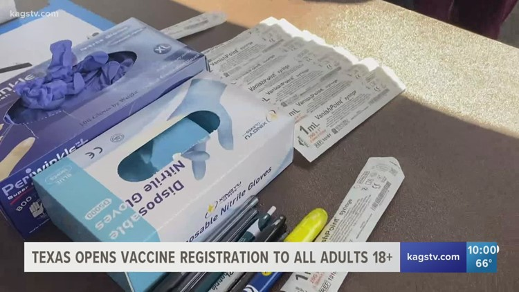 Texans 16 and older can now receive the COVID-19 vaccine