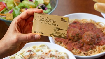 Olive Garden's Never Ending Pasta Passes sold out in a single second, Texas snags third most passes of any state