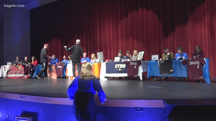 Numerous A&M Consolidated athletes are headed to play their respective sport at the next level