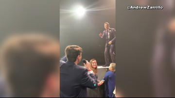 Concert surprise for former A&M student