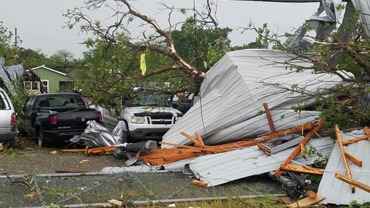 Tornado Damage near Franklin, TX