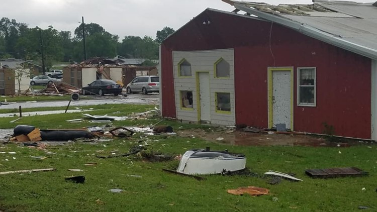 Storm Damage near Franklin, TX courtesy of Dennis Phillips of the Franklin Advocate.