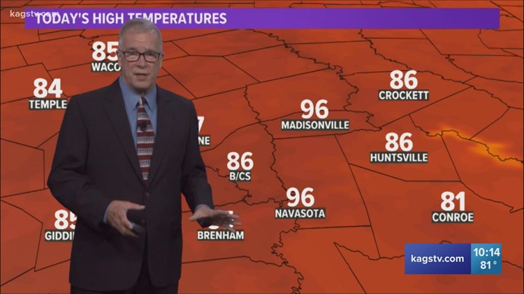 Bob's Forecast: Humidity levels stay low as the weekend approaches