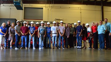 McCoy's donates tool belts to Bryan ISD's CTE construction science students