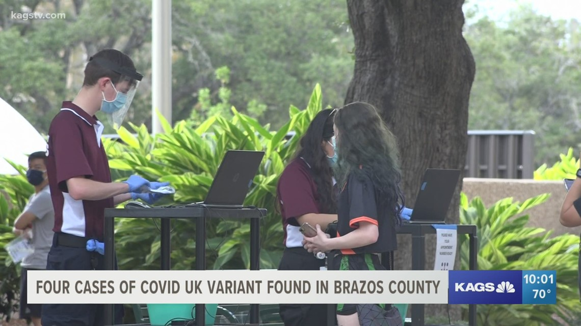 4 cases of COVID-19 UK variant identified in Brazos County