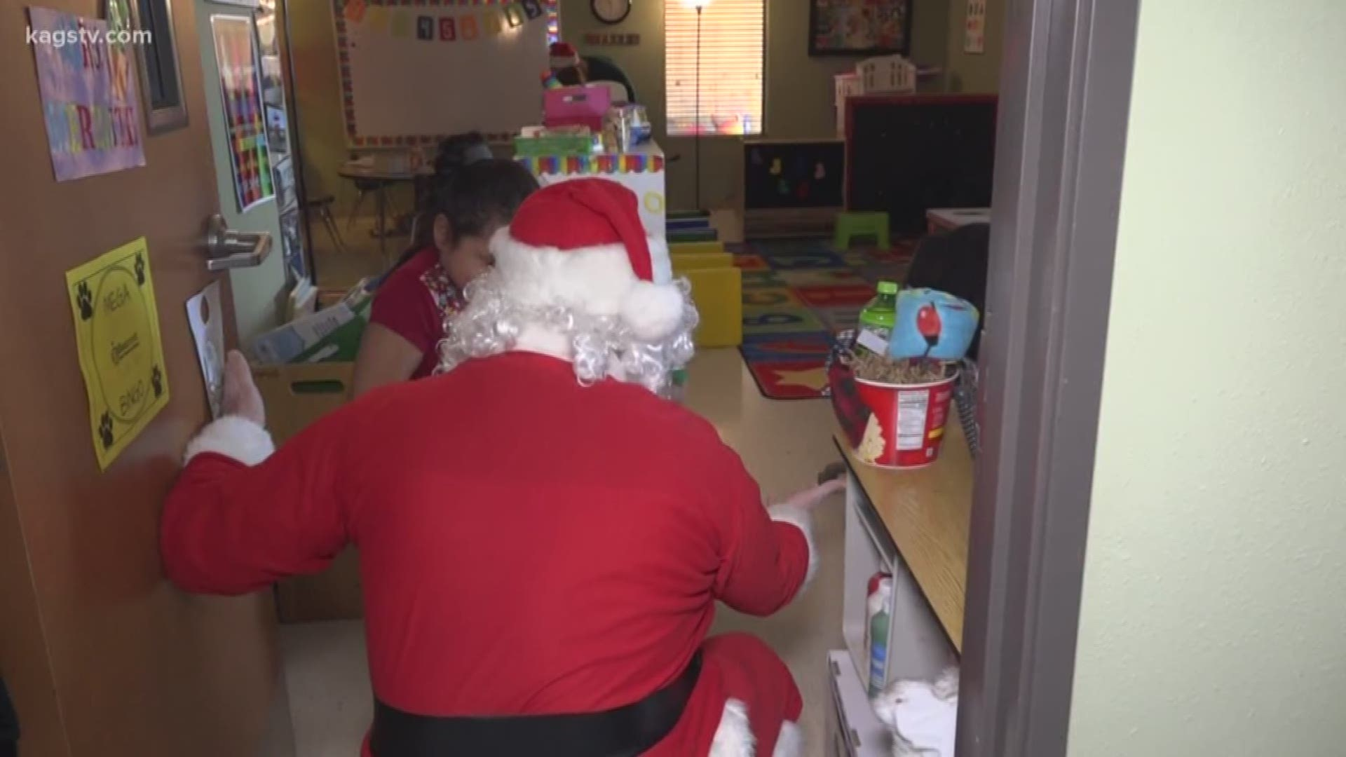 Santa Claus pays a special visit to local Brenham students