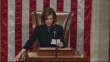President Trump impeached by the House of Representatives