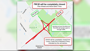 FM 60 closed until May 22