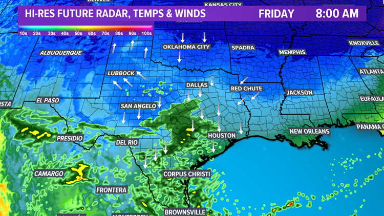 Future radar Friday at 8:00 am
