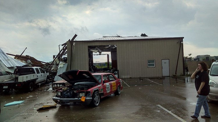 Storm damage near Coyote Run in Bryan, texas