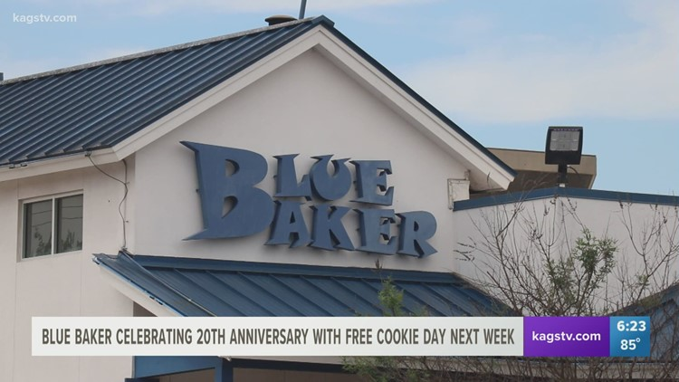 Blue Baker celebrating 20 year anniversary in the Brazos Valley with cookie giveaway