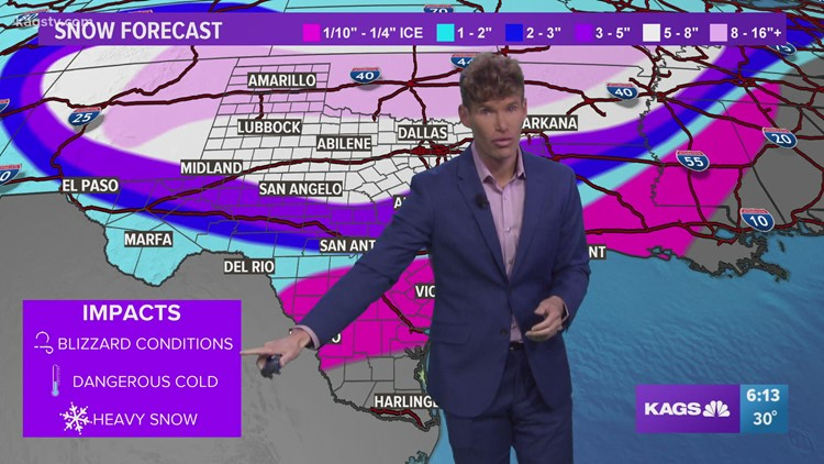 Crippling winter storm and dangerous Arctic air to slam Texas this weekend through early next week