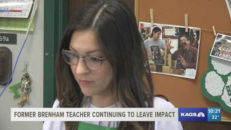 Departed Brenham art teacher continues to impact students