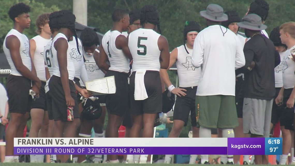 Franklin reaches Semifinals; College Station Sweeps Pool Play in State 7on7 Tournament