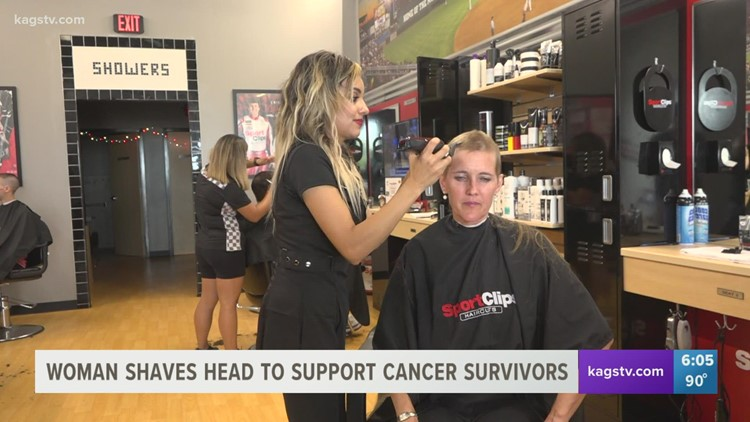 College Station woman shaves head to support the fight against cancer