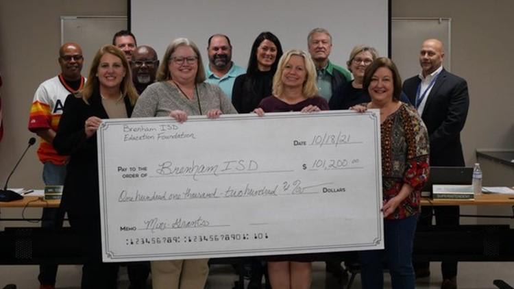 'Mini-grants': Brenham ISD receives $100,000 donation
