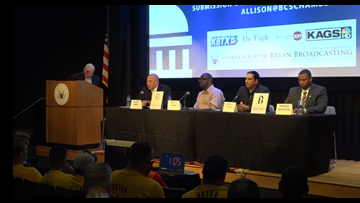 Local candidates speak at George Bush Library and Museum