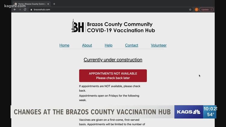 New registration website for Brazos County COVID-19 Vaccine HUB