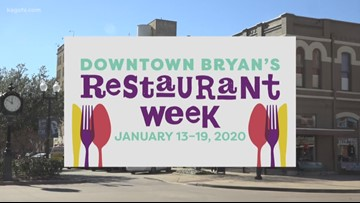 Downtown Bryan celebrating Restaurant Week Jan. 13 - 19