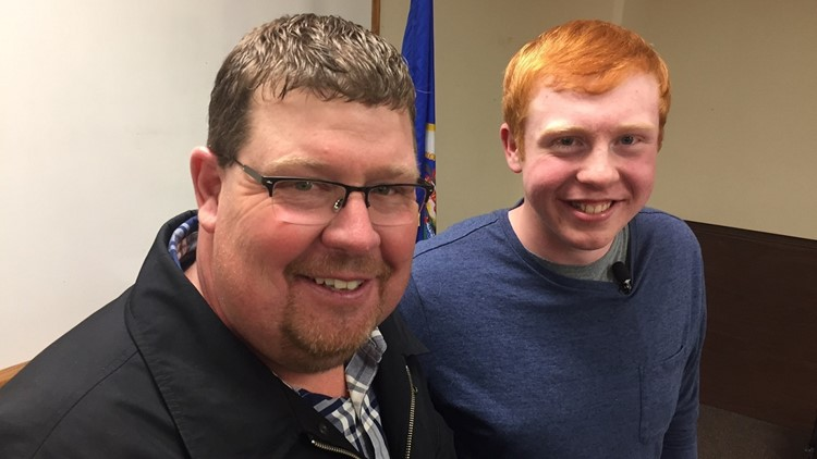 Teen preps to save a life - then does