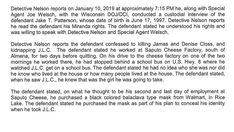 Criminal complaint (School bus)