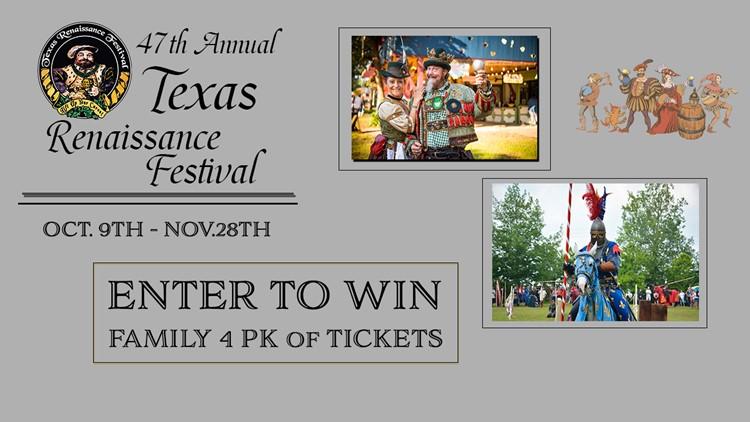 Texas Renaissance Festival Ticket Giveaway