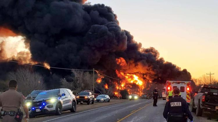 'By the grace of God,' no injuries after explosion caused by train vs. 18-wheeler crash in Cameron, sheriff says