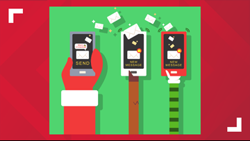 Santa Claus can text from the North Pole   You can sign up for weekly messages
