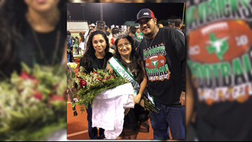 Melanie Garza becomes Pearsall High School's first special-needs homecoming queen
