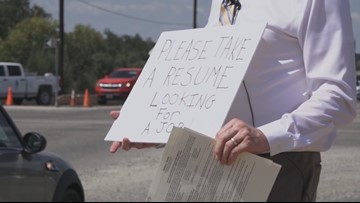 Man gets job offer after standing at Helotes intersection handing out resumes