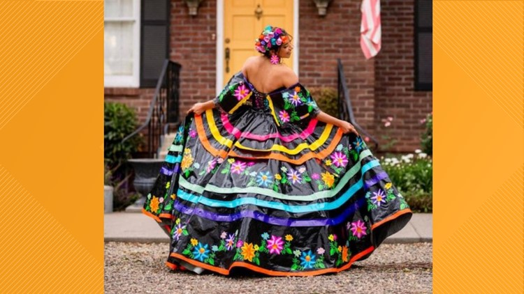 Duct tape dress created by teen who was inspired by her Texan, Mexican roots