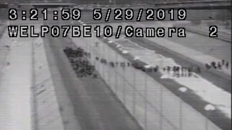 Group of over 1,000 migrants caught on CBP surveillance camera crossing the border