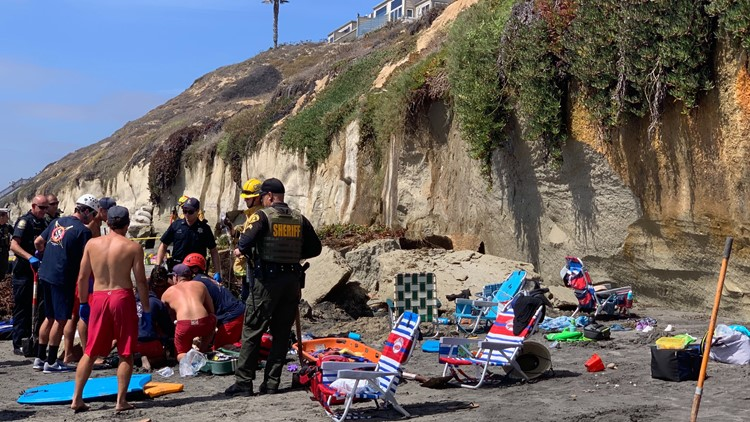 Encinitas bluff collapse