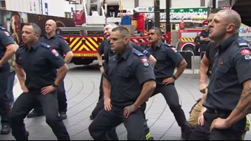 Watch: New Zealand firefighters perform haka to honor 9/11 first responders