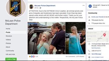 Police 'arrest' Elsa for bringing polar vortex