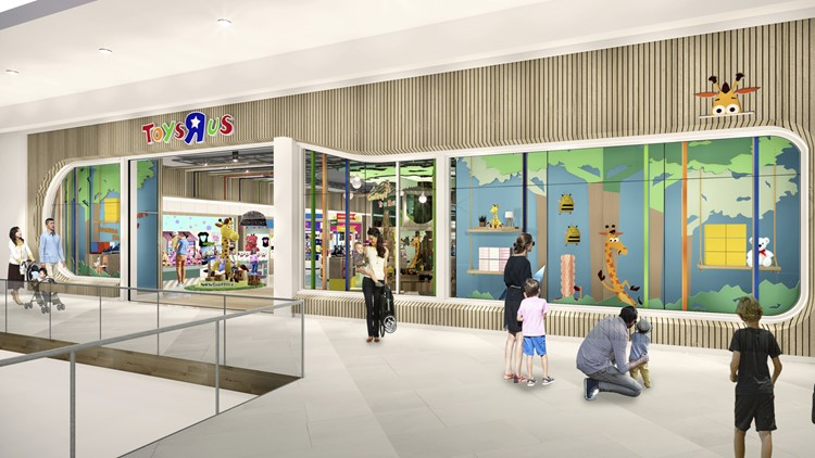 "Toys ""R"" Us mockup of what the new mall locations will look like"