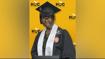 80-year-old grandmother graduates from Houston Community College