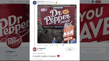 'Match made in heaven': Whataburger introduces Dr Pepper shake